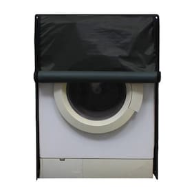 Glassiano Green Waterproof & Dustproof Washing Machine Cover For Front Load Haier HW60-1279 6 kg, Washing Machine