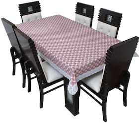 Glassiano Printed Waterproof  8 Seater Dinning Table Cover Plastic;Size 60x108 Inch;S64