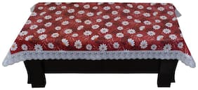 Glassiano Printed Center Table Cover with White border lace