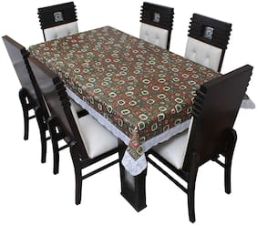 Glassiano Printed Waterproof  6 Seater Table Cover for Dinning Table Plastic;Size 60x90 Inch;S63