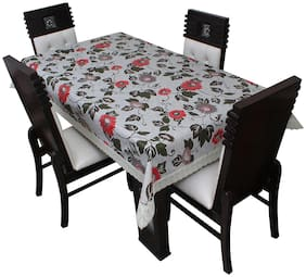 Glassiano Printed Waterproof Dinning Table Cover 4 Seater Size 132.08x193.04 cm (52x76 inch )