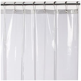 Glassiano PVC Transparent Shower Curtain Size (WxL in inches) 50x84