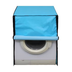 Glassiano SkyBlue Colored Washing Machine Cover For LG FH0B8NDL25 Front Load 6 kg