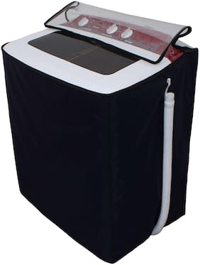 Glassiano Transparent Washing Machine Cover For Godrej WS 800 PDS 8 kg Semi Automatic Top Loading Washing Machine