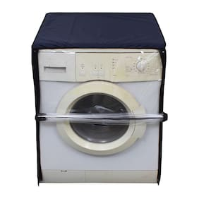 Glassiano Transparent Washing Machine Cover For Haier HW65-B10636NZP 6.5 kg Fully Automatic Front Load Washing Machine