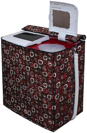 Glassiano Washing Machine Cover For Lg P7853R3Sa Semi Automatic Top Load 6.8 Kg