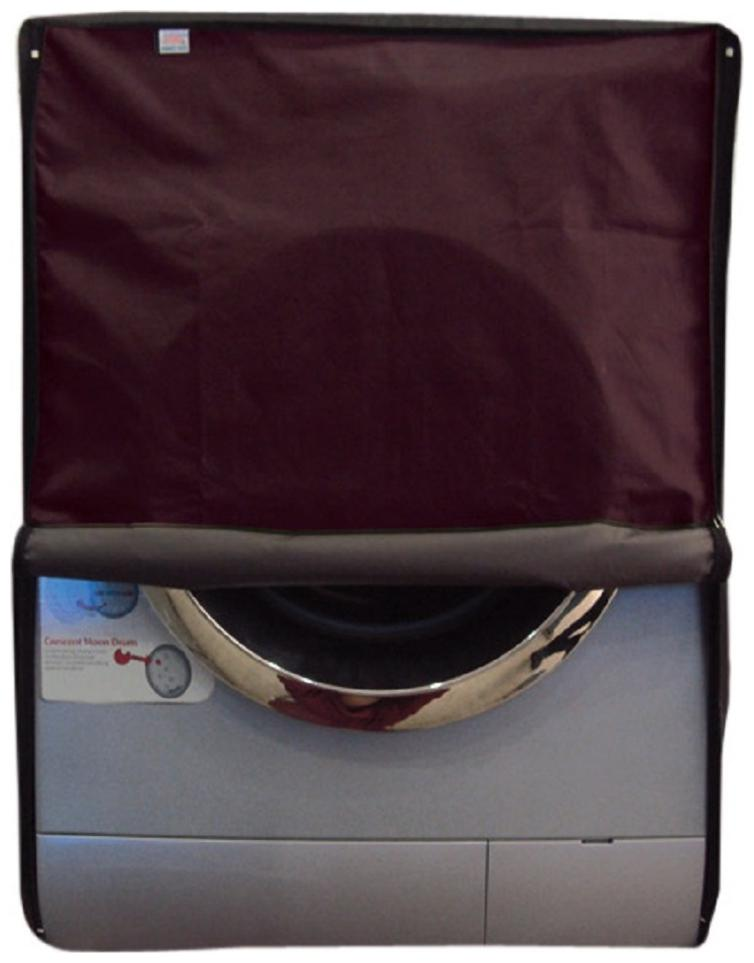 Glassiano waterproof and dustproof Maroon washing machine cover for Samsung WF8558QMW8 Washing Machine