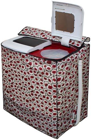 Glassiano Washing Machine Cover for LG P9037R3SM Semi Automatic Top Load 8 kg Washing Machine;DA03