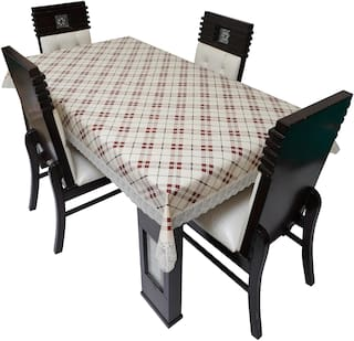 Glassiano Waterproof Dinning Table Cover 4 Seater / 4 Seater Dinning Table Cover Plastic
