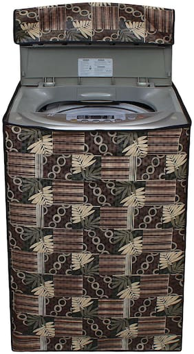 Glassiano Washing Machine Cover For Haier HWM58-020 Fully Automatic Top Load 5.8 kg