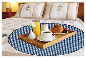 Glassiano Waterproof & Oilproof Round Bed Server Mat