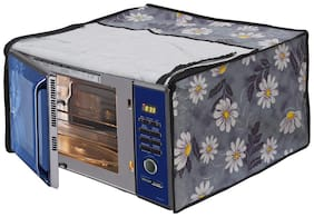 Glassiano White Flower Printed Microwave Oven Cover for IFB 30 Litre Convection Microwave Oven 30FRC2 Floral Pattern