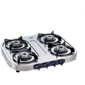 Glen 4 Burners Regular Gas Stove - Silver , Auto Ignition
