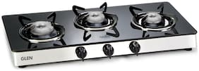Glen 3 Burners Gas Stove - Silver