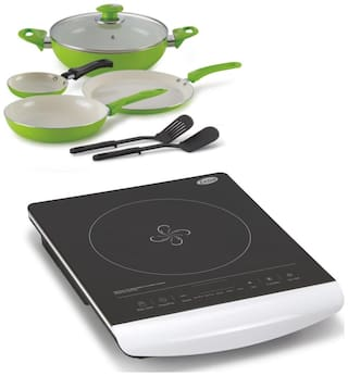 Glen 3074 Induction Cooker + Alda CC Cookware Gift Set-6 ass Lid ( COMBOS )