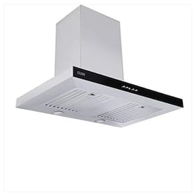 Glen Wall Mounted Auto Clean 60 cm 1000 m3/h Silver Chimney