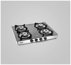 Alda 4 Burners Stainless Steel Gas Stove - Black , Auto Ignition