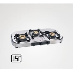 Alda CTA137HFAI 3 Burners Regular Gas Stove - Silver , Auto Ignition