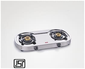 Alda CTA126 2 Burners Gas Stove - Silver