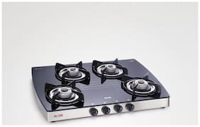 Alda ALDA 4 Burners Stainless Steel Gas Stove - Black