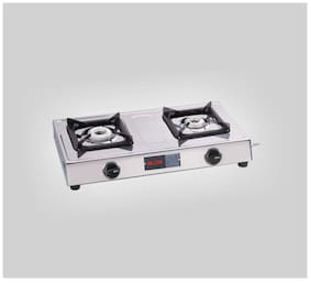 Alda ALDA 2 Burners Stainless Steel Gas Stove - Silver