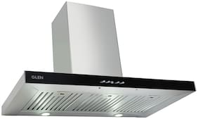 Glen Wall Mounted 90 cm 1000 m3/h Silver Chimney