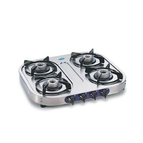 Glen 4 Burner Stainless Steel Gas Stove 1044 Alloy Burners 5 year warranty