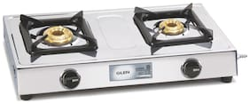 Glen 2 Burners Gas Stove - Silver