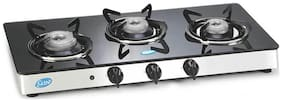 Glen 3 Burners Gas Stove - Black , Auto Ignition