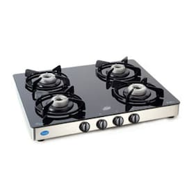 Glen Gl-1041 GT Glass 4 Burner Gas Stove Manual Ignition