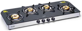 Glen 4 Burners Stainless Steel Gas Stove - Black