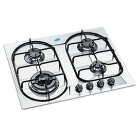 Glen 4 Burner Automatic Hobs Silver Gas Stove ,