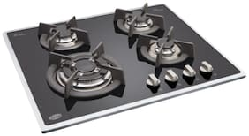 Glen 4 Burner Automatic Hobs Black Gas Stove