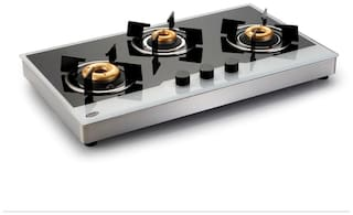 Glen 3 Burners Stainless Steel Gas Stove - Assorted , Auto Ignition