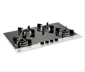 Glen 4 Burners Stainless Steel Hob Top Gas Stove - Assorted , Auto Ignition