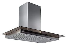Glen Wall Mounted Auto Clean 90 cm 1250 m3/h Silver Chimney