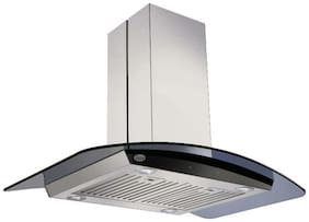 Glen Wall Mounted 60 cm 1250 m3/h Silver Chimney ( CH6071GF60BFLTW )