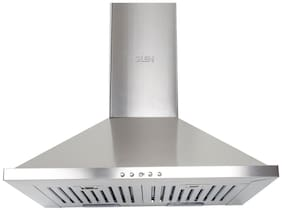 Glen Wall and Ceiling Mounted 60 cm 1000 m3/h Silver Chimney ( CH6075X60X1000LTW )