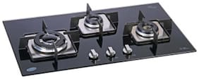 Glen 3 Burner Automatic Hobs Black Gas Stove ,