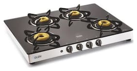 Glen 4 Burner Automatic Regular Black Gas Stove