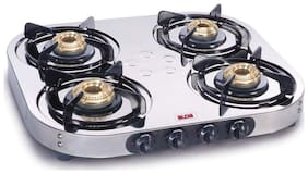 Alda 4 Burners Stainless Steel Gas Stove - Grey