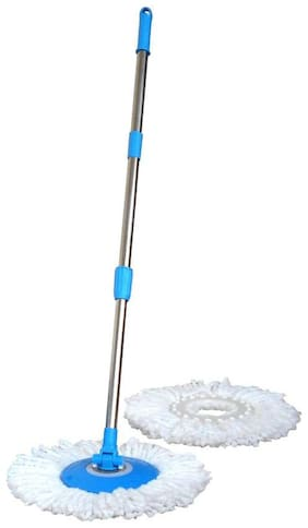 Glitter Collection Mop 360 rotating magic mop , Stick set ,dish with 2 Refill