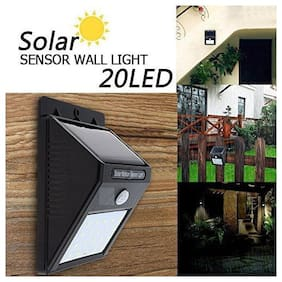 Global 20 LED 4W Solar Motion Sensor Outdoor Wall Light - Pack of 1