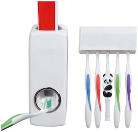 Global Automatic Toothpaste Dispenser and Tooth Brush Holder