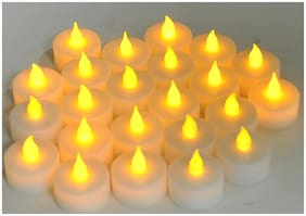 Global Christmas Decorative LED Flameless Tea Light Candles set of 6 pcs
