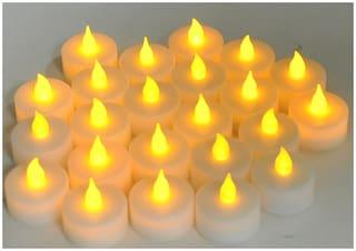 Global Christmas Decorative LED Flameless Tea Light Candles set of 6 pcs