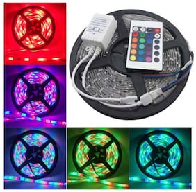 Global Christmas Decorative LED Strip Light with Remote -  5 Mtr - Pack of 1