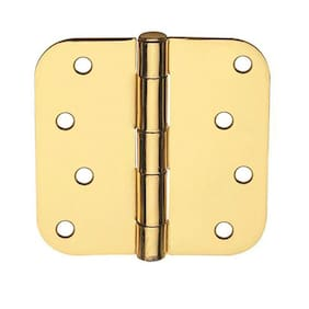 Global Door Controls Residential Hinge- 2-Pk Dull Brass 4inx4in CP4040-5/8-US4-M