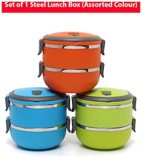 Global Assorted Lunch box ( Set of 1 , 1400 ml )