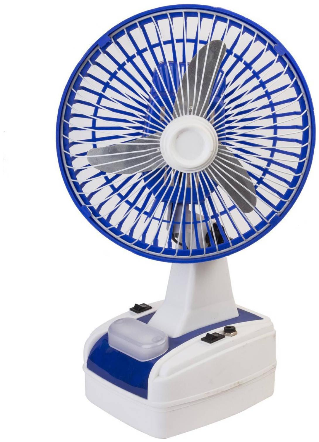 Globex Rechargeable Ultra High Speed 400 mm 3 Blade Table Fan with...